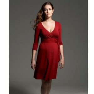 Isabella Oliver red maternity wrap dress